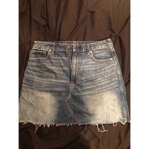 Medium Wash A&F Skirt